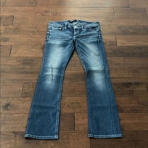 Express Jeans. Stella Barely Boot. Size 10Long.